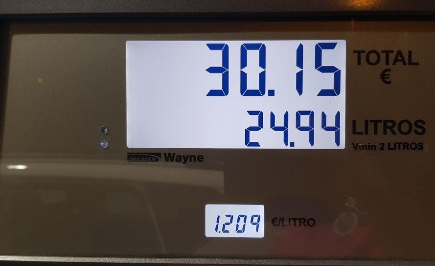 Anzeigetafel-Gasolina-Benzin-Cepsa