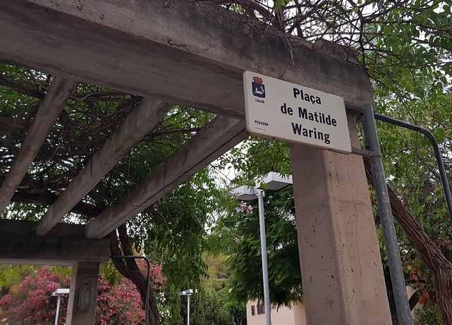 Placa-de-Matilde-Waring-Peguera-Mallorca